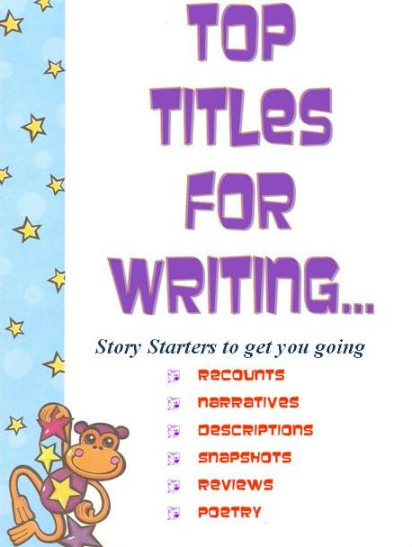 creative writing titles ideas Writing titles that grab attention is an art, you have less than 2 seconds to secure a readers attention with your title how do you do this effectively.