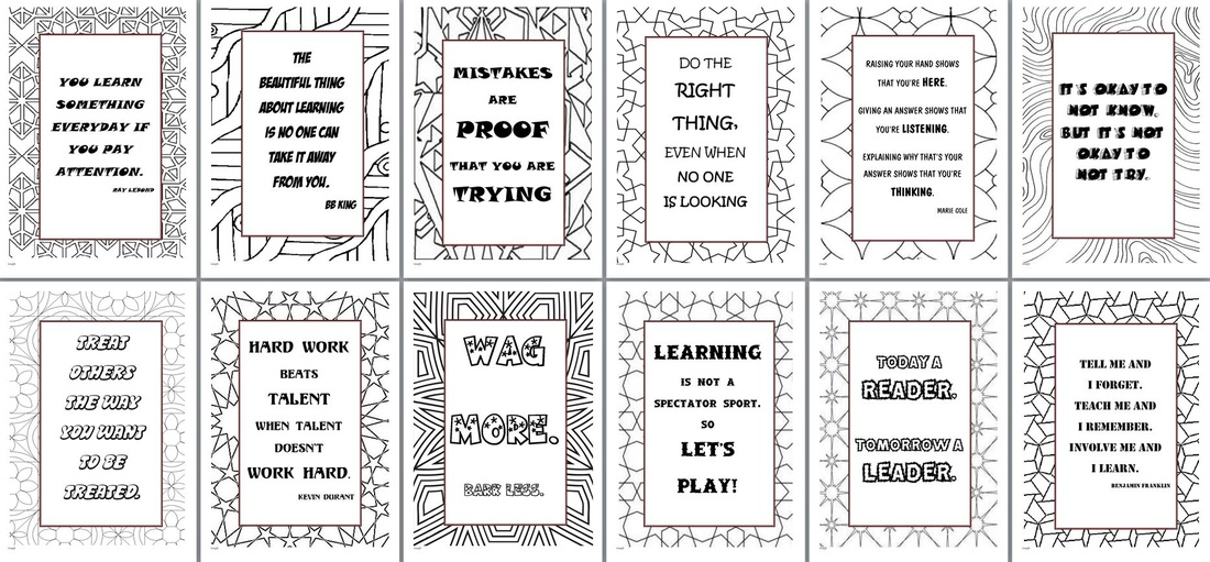 Classroom quote posters 29 pg word doc idea spotted on pinterest again there are 29 here and on our step up day where i got to work with my new 2016